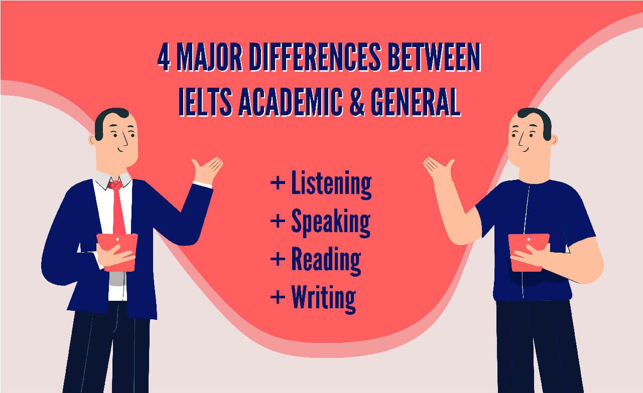 Major difference between IELTS Academic vs general